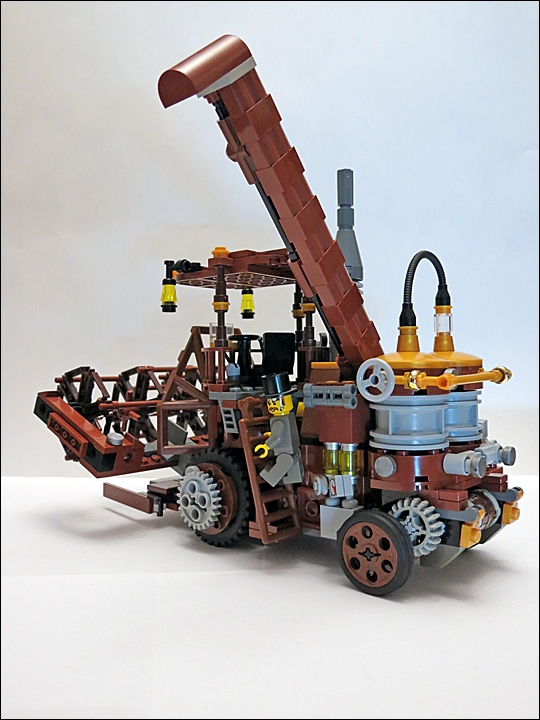 LEGO MOC - Steampunk Machine - Steampunk Harvester: Лестница в кабину.
