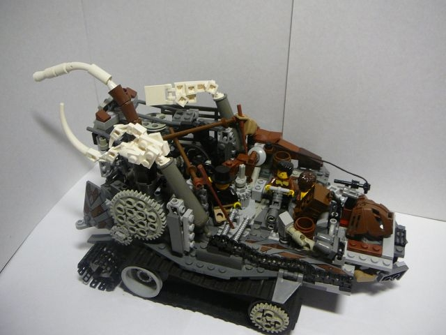 LEGO MOC - Steampunk Machine - Steampunk moving platform