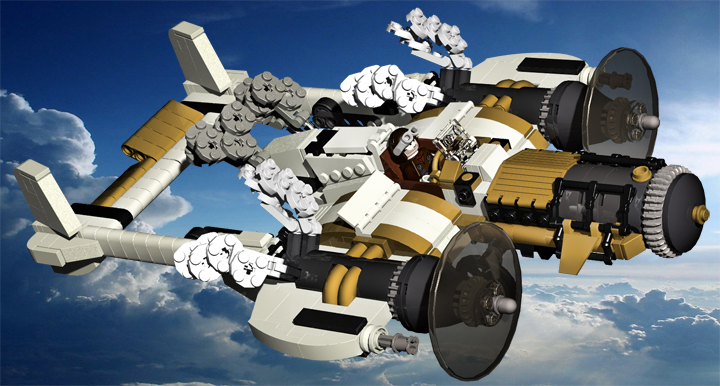 LEGO MOC - Steampunk Machine - Steam Flyer