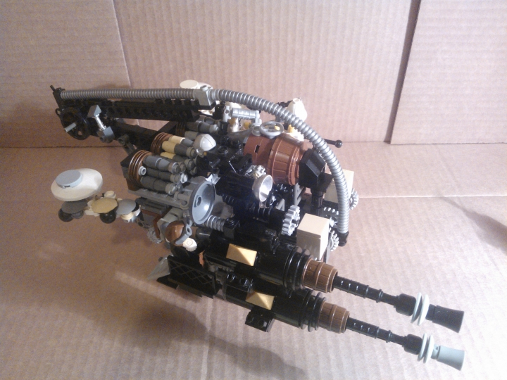 LEGO MOC - Steampunk Machine - Shock self-propelled gun: без колес.