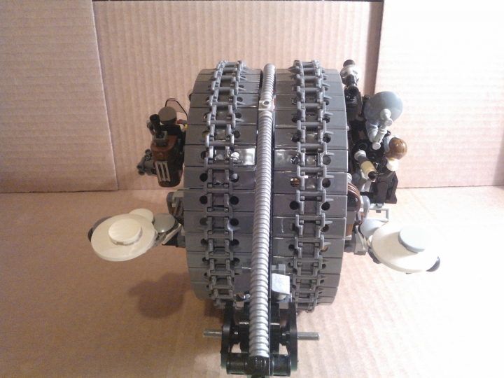 LEGO MOC - Steampunk Machine - Shock self-propelled gun: Вид сзади.