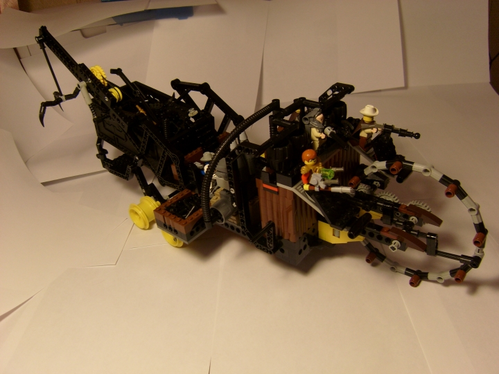 LEGO MOC - Steampunk Machine - Marauder's Ship: Общий план