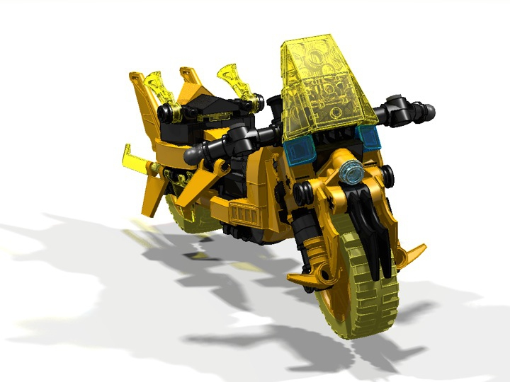 LEGO MOC - Mini-contest 'Lego Technic Motorcycles' - Motorcycle 'Wasp': №2: Поворот вправо.