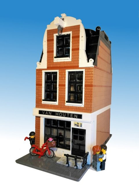 LEGO MOC - LEGO Architecture - Canal House - дом в голландском стиле: Наши дни