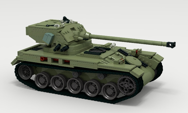 LEGO MOC - LDD-contest '20th-century military equipment‎' - Light Tank AMX-13