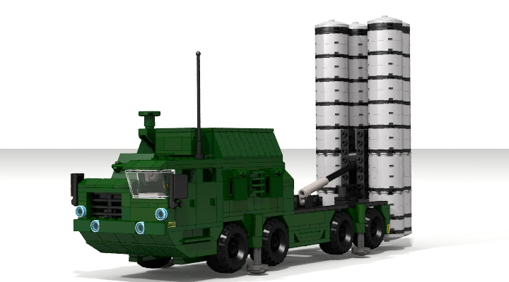 LEGO MOC - LDD-contest '20th-century military equipment‎' - Air Defense Missile Systems S-300PS: В цветах режима LDD Extended.