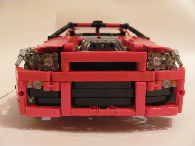 LEGO MOC - Technic-contest 'Car' - Nissan Skyline GT-R R34.: Грустная мордочка.