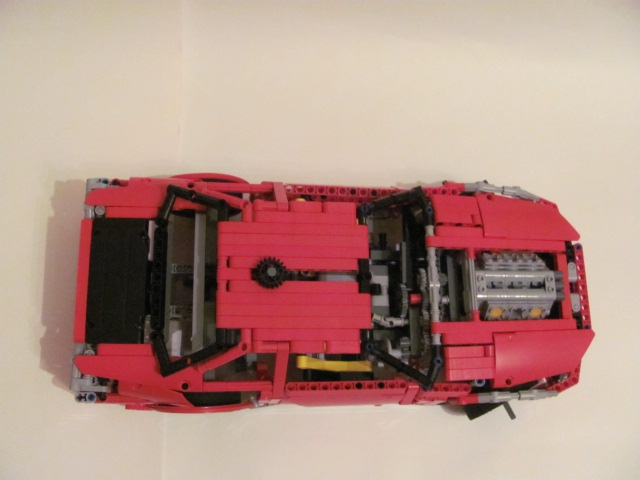 LEGO MOC - Technic-contest 'Car' - Nissan Skyline GT-R R34.: Сверху.