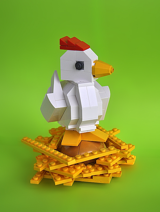 LEGO MOC - Russian Tales' Wonders - Assia and the Hen with the Golden Eggs