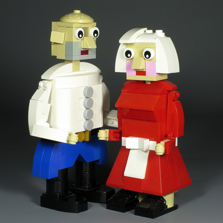LEGO MOC - 16x16: Chibi - Babushka, Dedushka & Kolobok: </i>Once upon a time there lived Dedushka & Babushka.<br><i><br />