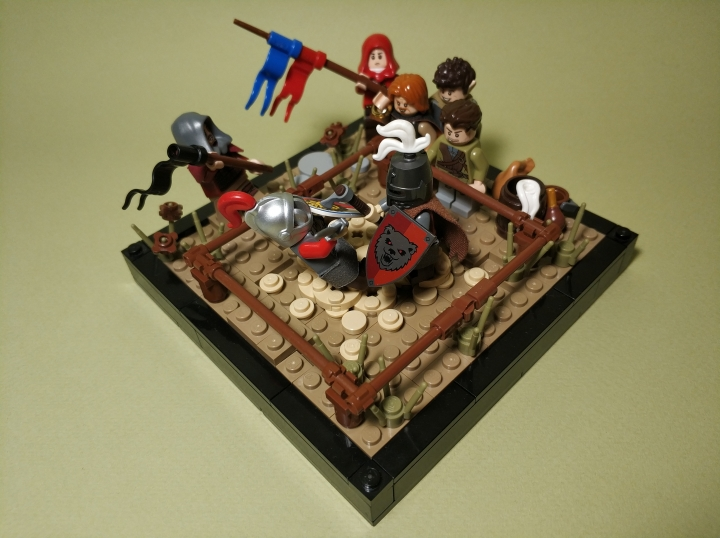 LEGO MOC - 16x16: Duel - The duel of two masters: (2)