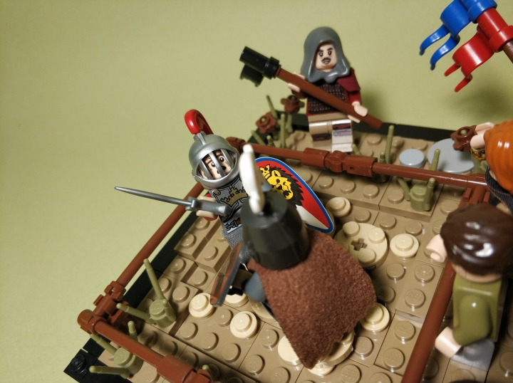 LEGO MOC - 16x16: Duel - The duel of two masters: (3)