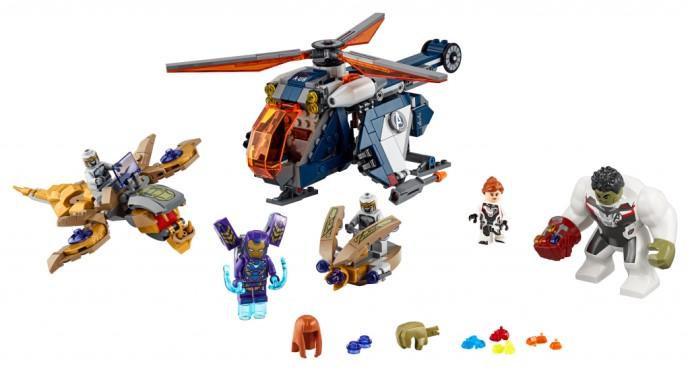 Bricker - Brinquedo contruído por LEGO 76144 Hulk Helicopter