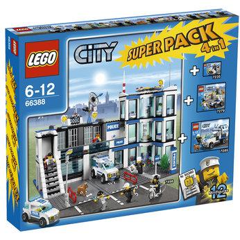 Bricker Brinquedo Contruído Por Lego 66388 City Police Super Pack 4 In 1